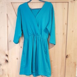 BCBGeneration Cut-out Back Teal Dress NWT